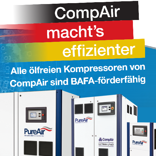 BAFA Förderung für CompAir Kompressoren